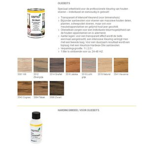 Osmo Oil Stain series 3500 (choose your color) NEW