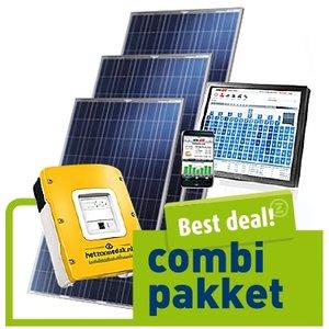 combi pakket best deal -10 zonneblauwe panelen - poly 2500 WP