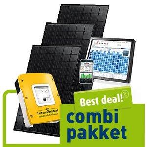 combi pakket best deal - 20 blauwe zonnepanelen - mono 2500 WP