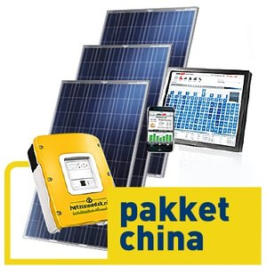 pakket china - 16 blauwe zonnepanelen - poly 4000 WP