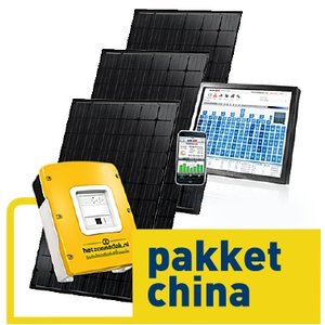 pakket china - 12 zwarte zonnepanelen - 3060 WP