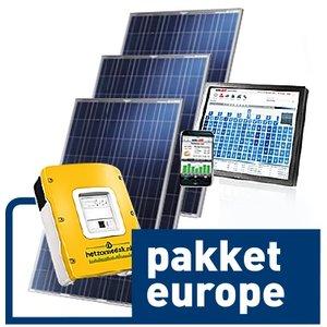 pakket europe - 18 blauwe zonnepanelen - poly 4500 WP