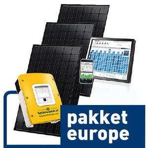 pakket europe - 6 zwarte zonnepanelen - mono 1560 WP