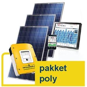 pakket poly- 8 blauwe zonnepanelen - poly 2.160 WP