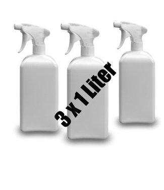 Fatzzo TT Nikotin Geruchsentferner Flower Power 3 x 1 L Sprühflasche