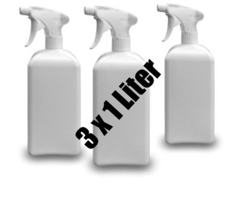 Nikotin Geruchsentferner Flower Power 3 x 1 L Sprühflasche/8,55€ der Liter