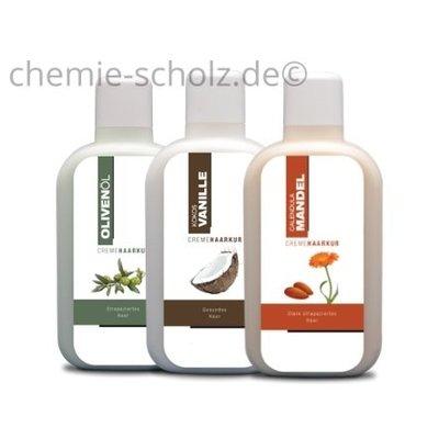 SCHOLZ COSMETIC Haarkur Oliven Öl, Kokos Vanille, Mandel Öl 3x1 Liter