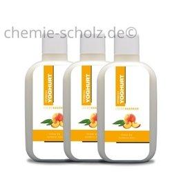 SCHOLZ COSMETIC Pfirsich Joghurt Creme Kur 3x1 Liter