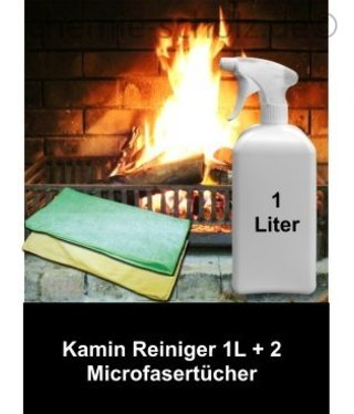 Fatzzo TT Kamin Reiniger Set 1 Liter + 2 Microfasertücher