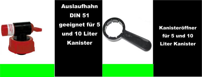 Kanisteröffner & Auslaufhahn