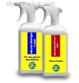 Fatzzo TT Nikotin Reiniger 1 Liter + Nikotin Geruchsentferner 1 Liter + 1 Microfasertuch