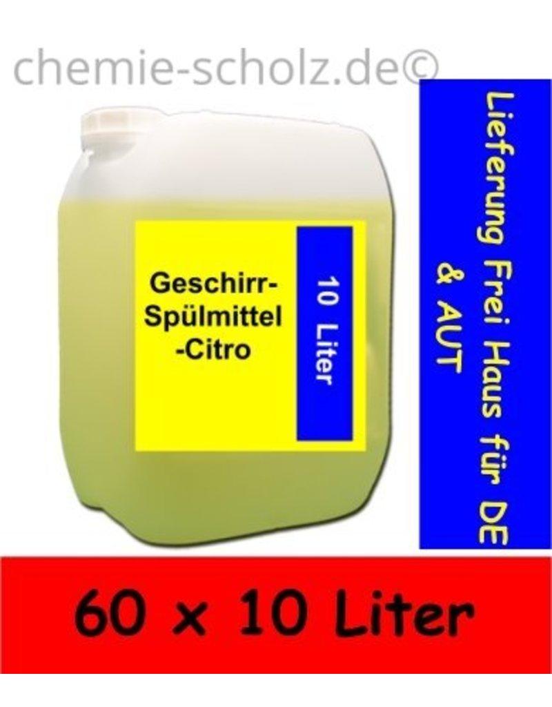 Fatzzo TT Geschirr-Spülmittel-Citro 60x10 Liter Kanister Lieferung Frei Haus für De und AUT