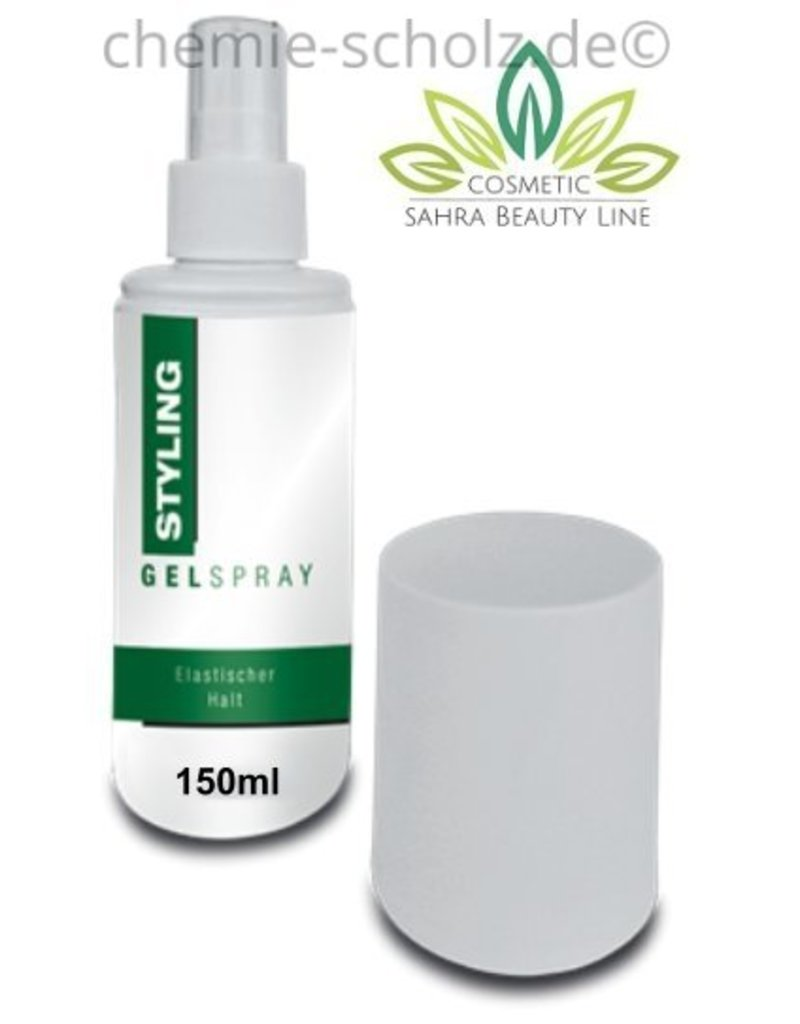 SCHOLZ COSMETIC Gelspray Pumpspray 150ml -Zum stylen von Nass- und Trockenfrisuren