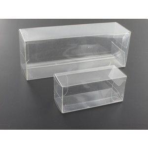 PET folding boxes HO cars High Quality with protective film (clear)