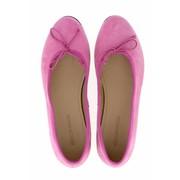 Royal Ballerinas Roze ballerina's van suède (daim)