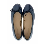 Royal Ballerinas Blauwe ballerina's van leer