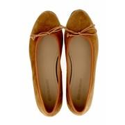 Royal Ballerinas Cognac kleurige suède ballerina's (daim)