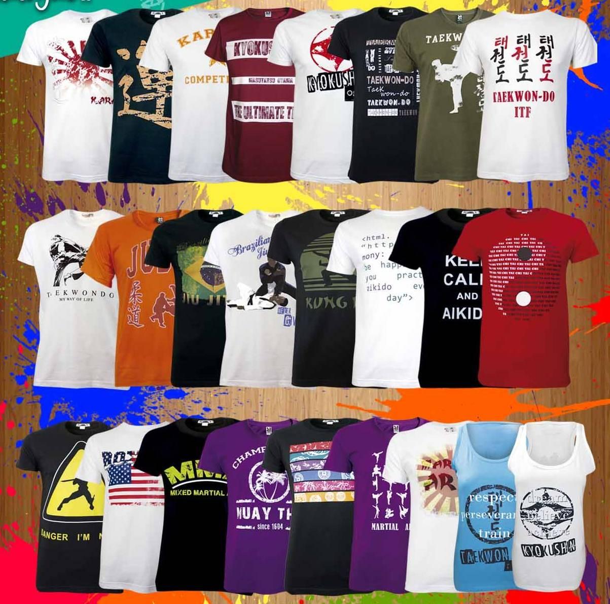 Vele nieuwe T-shirts