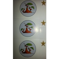 Kids development program stickers
