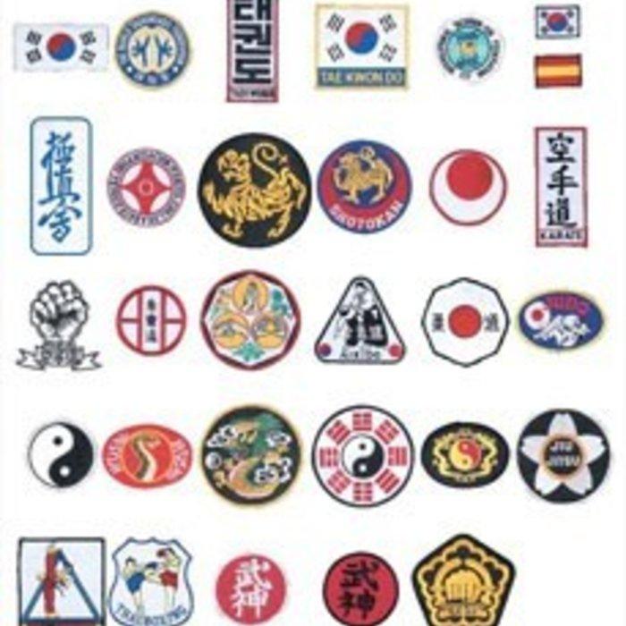 Geborduurde Vechtsport badges