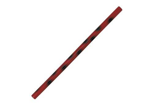Fuji Mae Kali / escrima stok rood met zwarte stip
