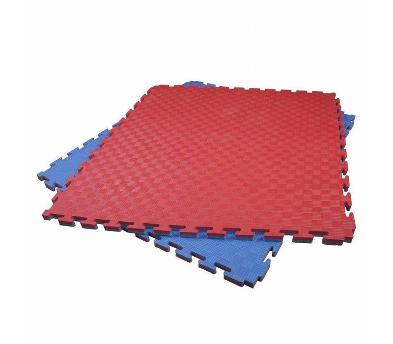 2 Cm Puzzelmatten rood/blauw of groen/zwart