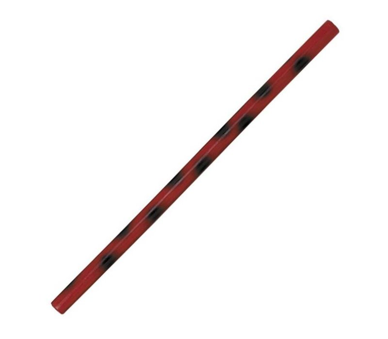 Kali / escrima stok rood met zwarte stip
