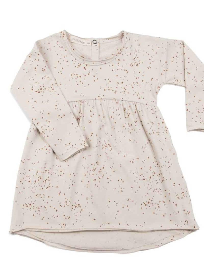 Phil & Phae Phil & Phae Sweat dress Moise print oatmeal