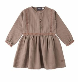 Tocoto Vintage Tocoto Vintage Lace Dress Toffee