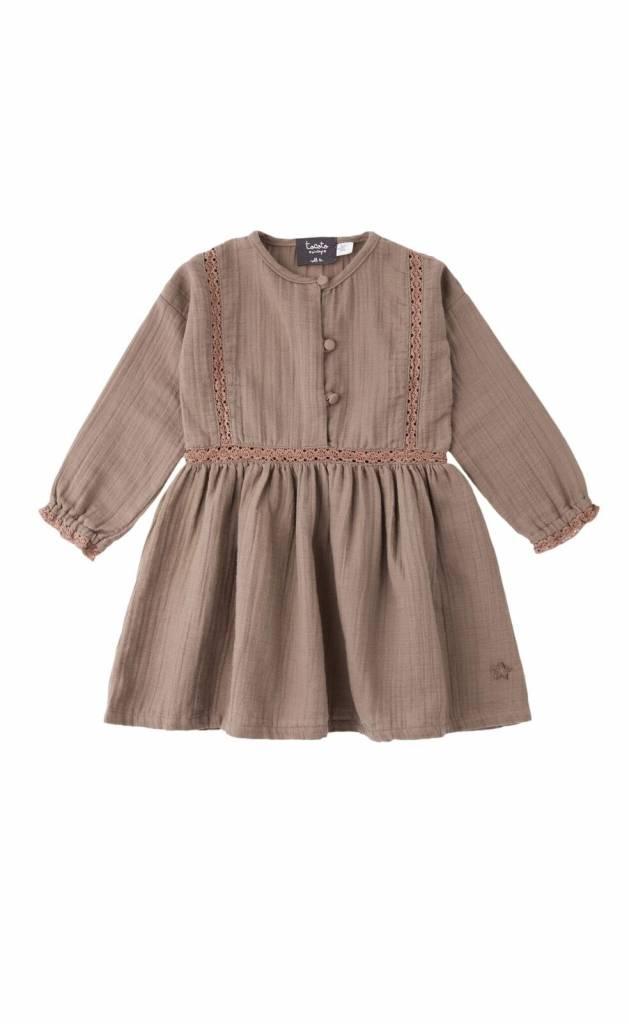 Tocoto Vintage Tocoto Vintage Lace Dress Toffee