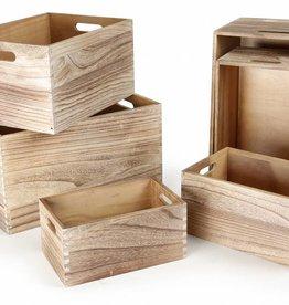 10048 - Houten Boxen naturel
