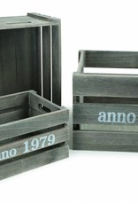 Shabby Chic Wooden Crate (3pieces)