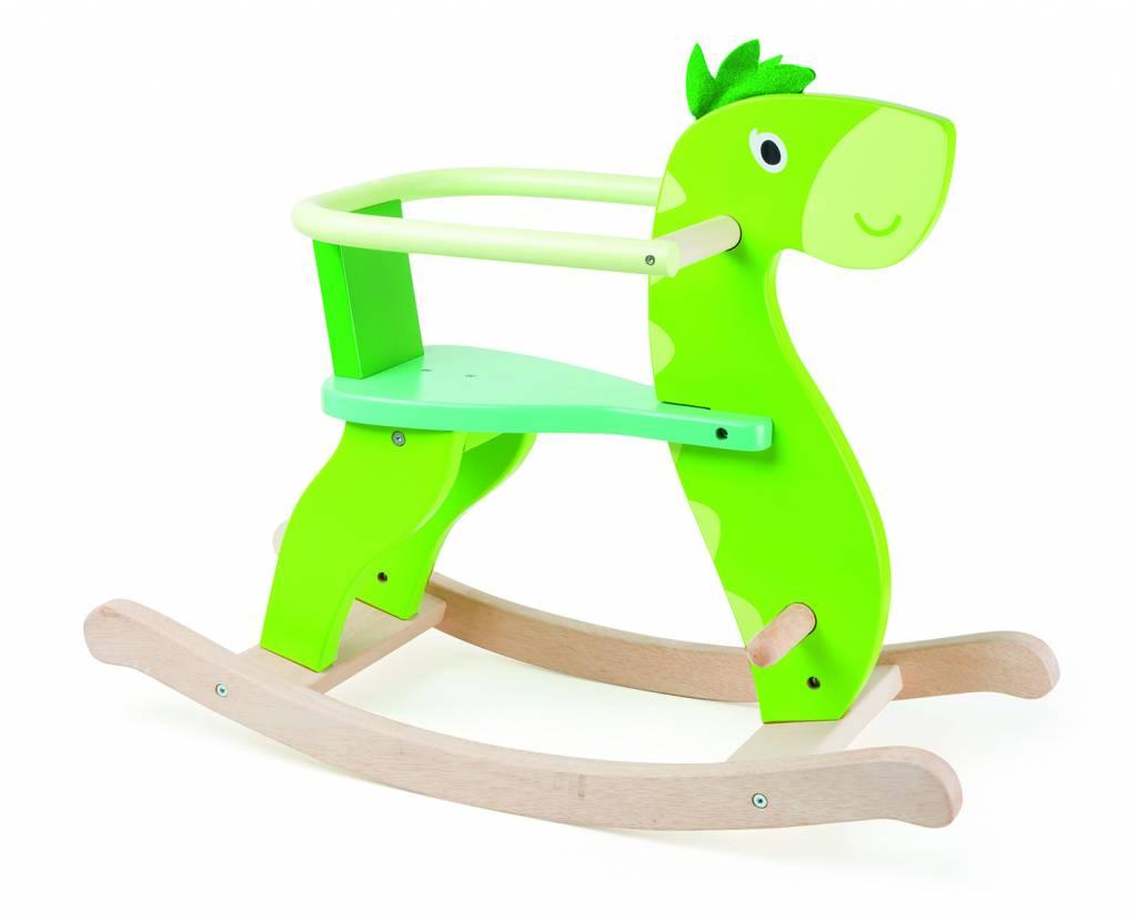 Wooden Made Swinging Dinosaur
