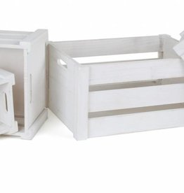 "1499 - Wooden Box ""White"" (4pieces)"