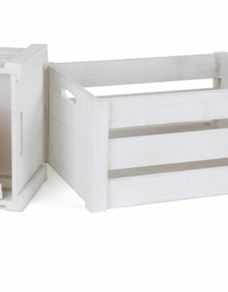 "Wooden Box ""White"" (4pieces)"