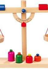 Weegschaal en gewichten