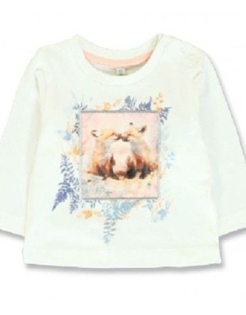Lemon Beret  Baby girls shirt  marshmallow