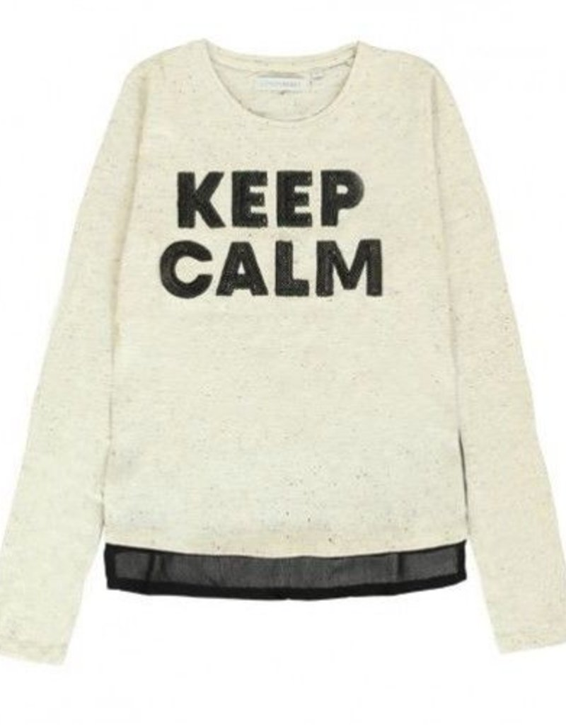 Lemon Beret 135680 Earthed teen girls shirt cream melange
