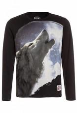 Lemon Beret Teen boys shirt  howling wolf