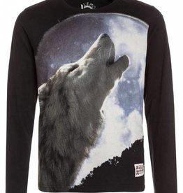 134369 Nocturne teen boys shirt  howling wolf