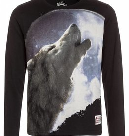 Lemon Beret Teen boys shirt  howling wolf