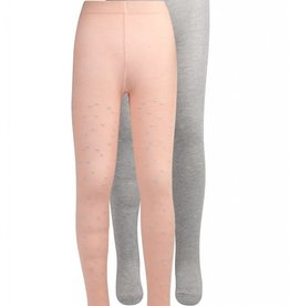 Lemon Beret Nocturne small girls tight 2-pack silver