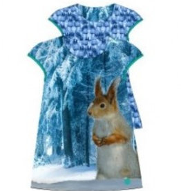 Lemon Beret Infusion baby reversable girls dress  squirrel