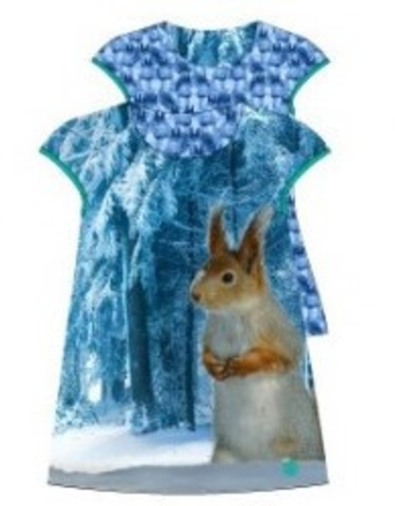 Lemon Beret  Infusion baby reversable girls dress squirrel