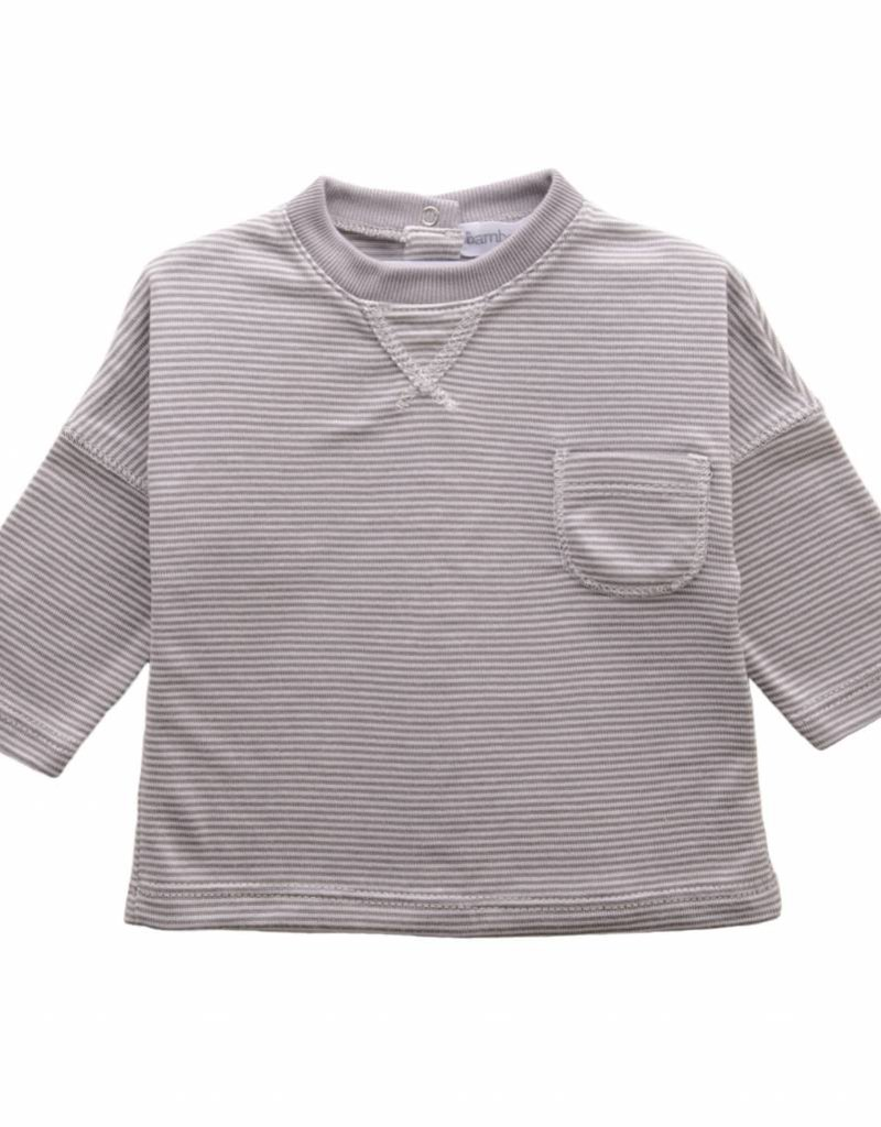 Bamboo & Love  AW17-TP35 POCKET SHIRT STRIPES C07 - STRIPED GREY