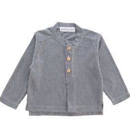 Bamboo & Love  AW17-TP38 BUTTON SHIRT STRIPES C05 - STRIPED MARINE BLUE