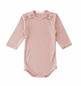 Bamboo & Love  AW17-TP40 BODYSUIT BUTTONS C02 - DUSTY ROSE