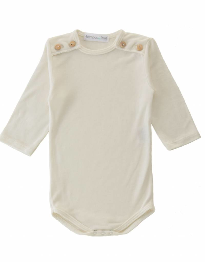Bamboo & Love  AW17-TP40 BODYSUIT BUTTONS C04 - PEARL -20%