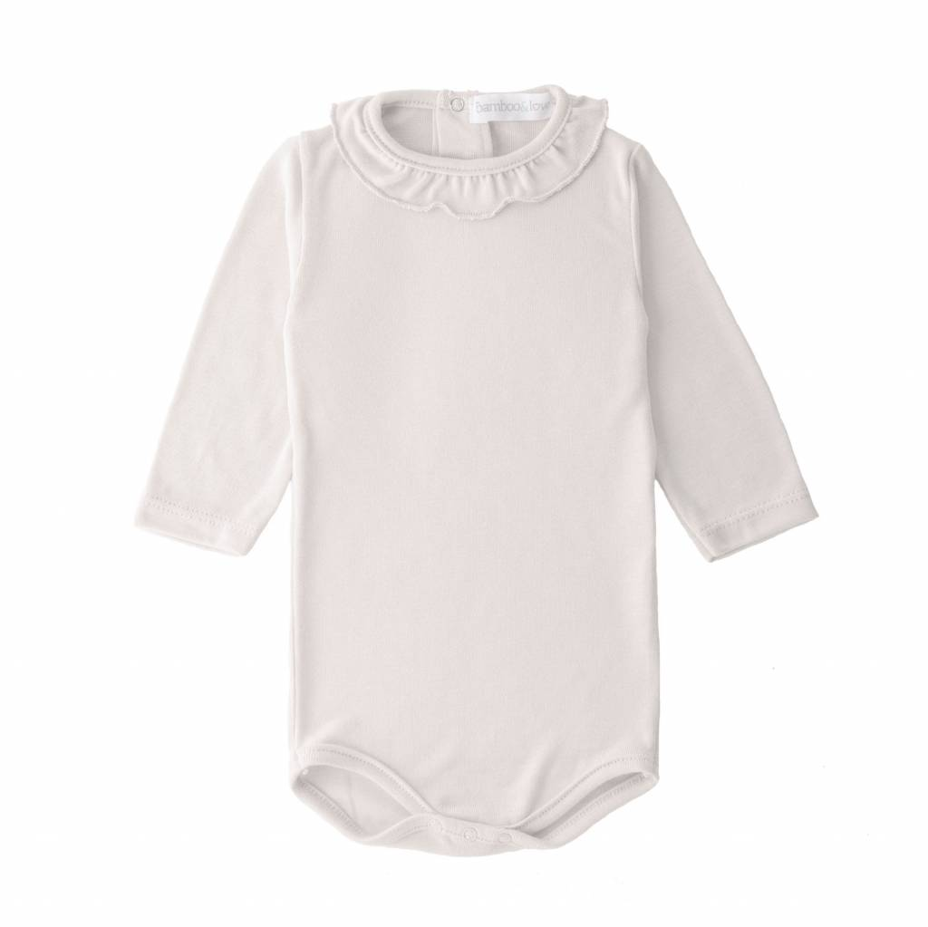 Bamboo & Love  AW17-TP27 BODYSUIT NECK C04 - PEARL