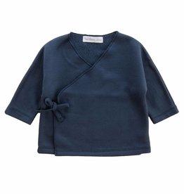 Bamboo & Love  AW17-TP41 KIMONO C11 - MARINE BLUE SWEATER -50%